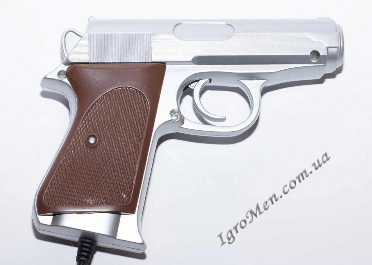 Пистолет для Денди (9 pin, серебро)