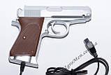 Пистолет для Денди (9 pin, серебро), фото 2