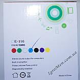 ЮСБ колонки для компьютера, ноутбука (Е-116, красный), фото 5
