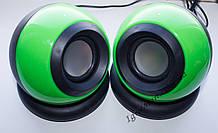 ЮСБ колонки для компьютера, ноутбука (Е-116, зеленый)