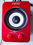 ЮСБ колонки 3.1 для компьютера, ноутбука (S888, красный), фото 2