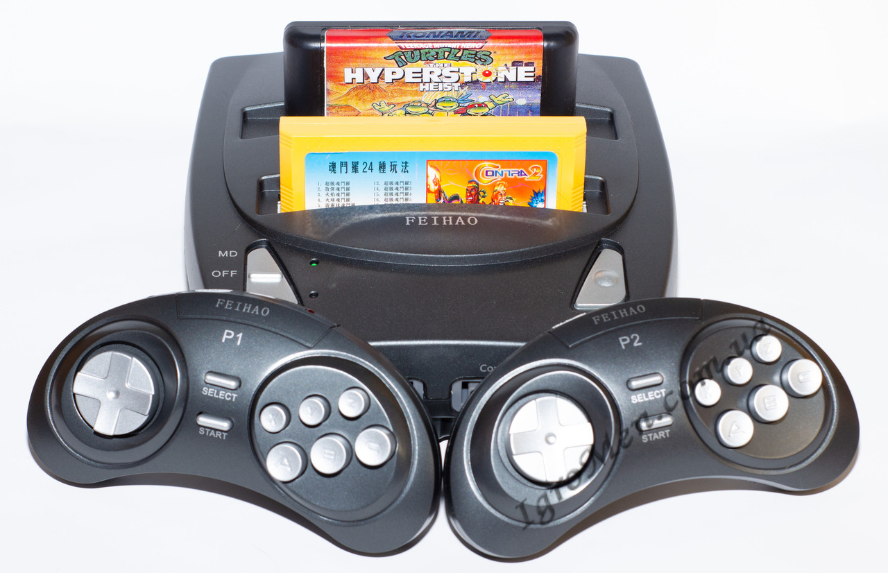 2 in 1 Sega Genesis + Dendy HD (HDMI, беспроводные джойстики, 88 игр)