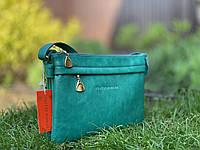 Женская весенняя сумочка-клатч зеленого цвета через плечо кроссбоди Pretty Woman
