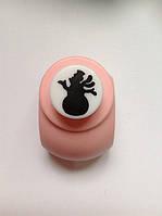 Дырокол фигурный Снеговик кнопка 1,8 см