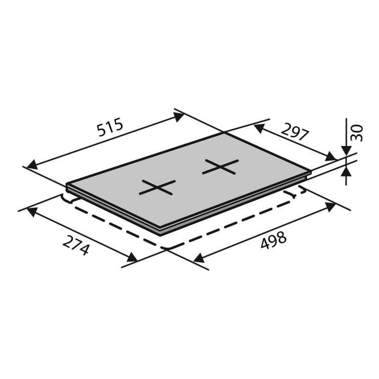 Поверхность VENTOLUX HG 320 EE/WH/ 2 - 4