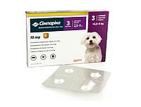 Таблетки Симпарика для собак массой 2,5-5 кг в упаковке 3 таблетки