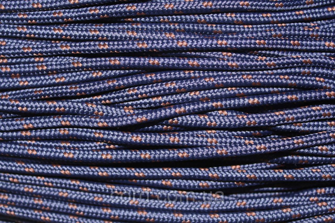Шнур круглый 5мм с наполнителем 100м синий + коричневый