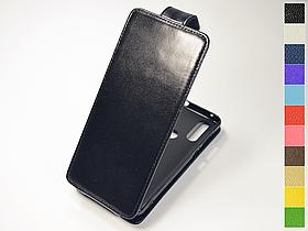 Откидной чехол из натуральной кожи для Motorola One Action