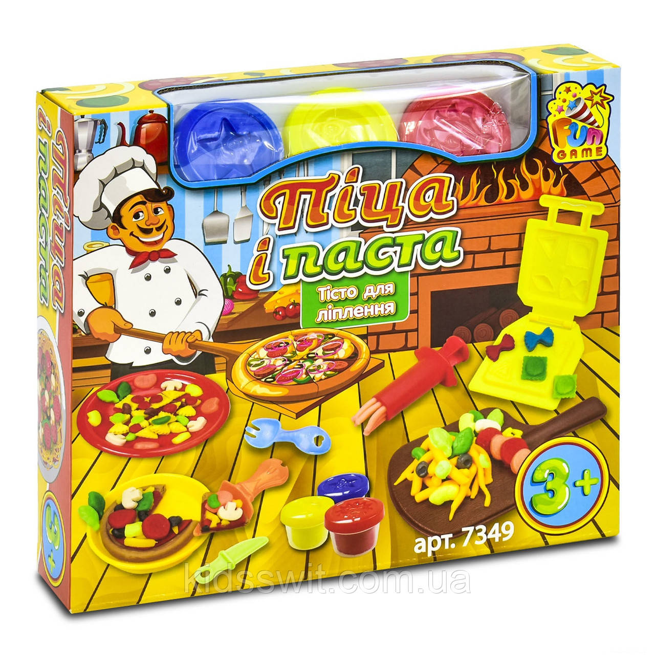"Тесто для лепки ""Піца і паста"" от "" Fun game"", 7349"