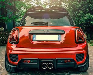 Фонари Mini Cooper F55 F56 F57 тюнинг Led оптика Union Jack (красные)