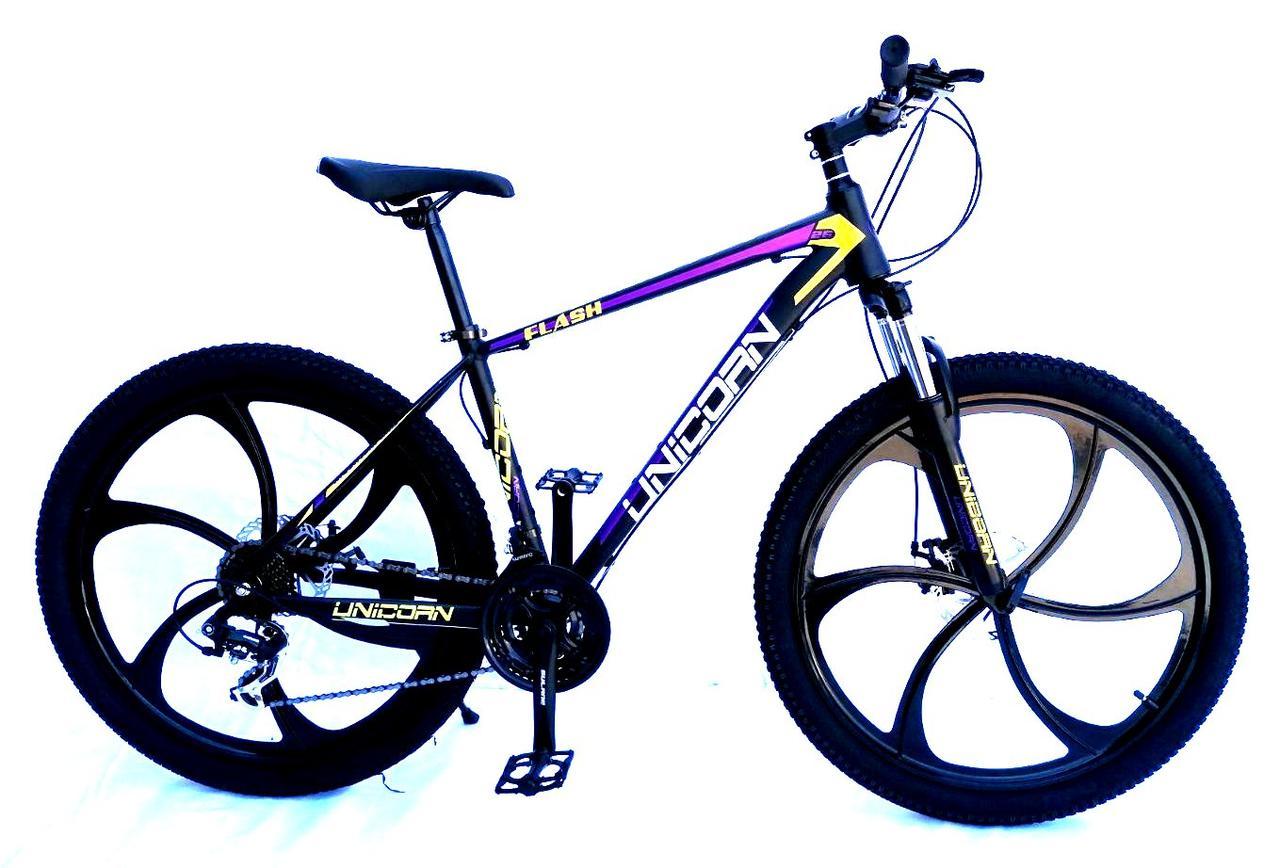 "Велосипед Unicorn - Flash 26"" размер рамы 18"" Black-Violet 2020год"