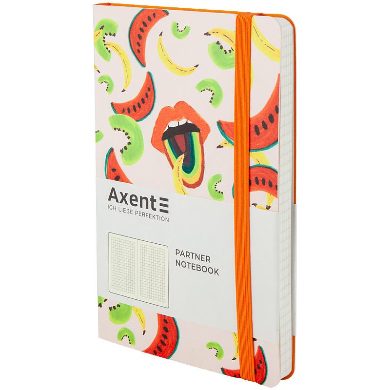 Книга записная в клетку Axent Partner BBH Fruits А5 96 листов