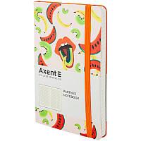 Книга записная в клетку Axent Partner BBH Fruits А5 96 листов, фото 1