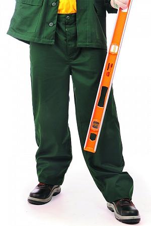 Брюки рабочие ЛИДЕР темно-зеленые ткань Zibo (65%п/э+35%х/б)