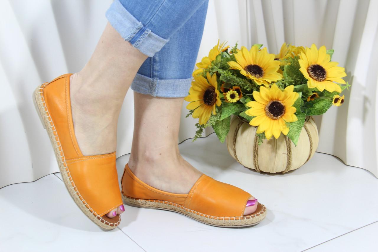 Эспадрильи кожаные Gloria 350-1637-orange