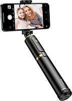 Монопод-штатив Baseus Fully Folding Selfie Stick с пультом Bluetooth Black-Gold (SUDYZP-D1V)