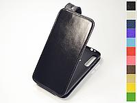 Откидной чехол из натуральной кожи для Motorola Moto G8 Play