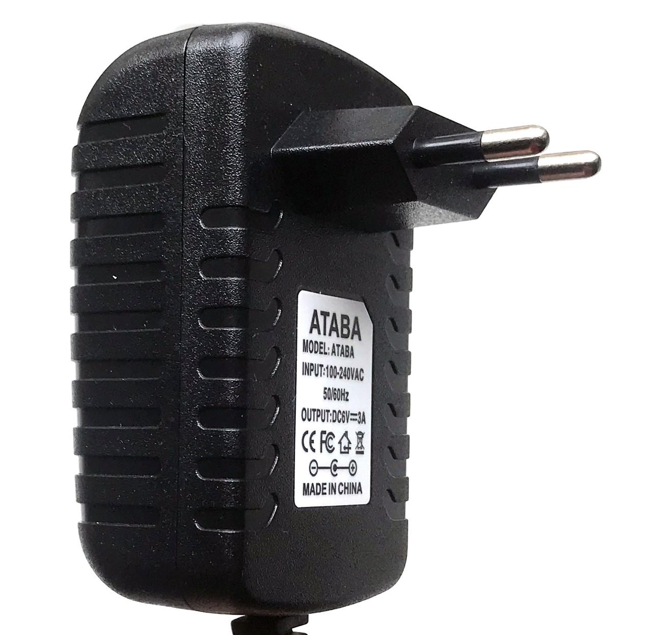 Блок живлення 6V 3A ATABA (5.5*2.1)
