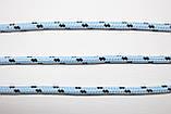 Шнур круглый 5мм с наполнителем 100м  голубой + черный, фото 2