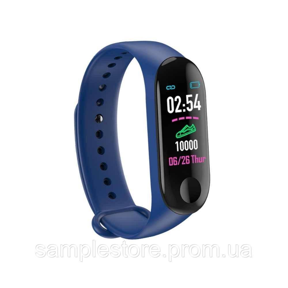 Фитнес трекер браслет Smart Band M3, Синий