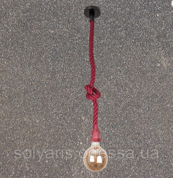 Люстра подвес лофт канат 915001-1 Red
