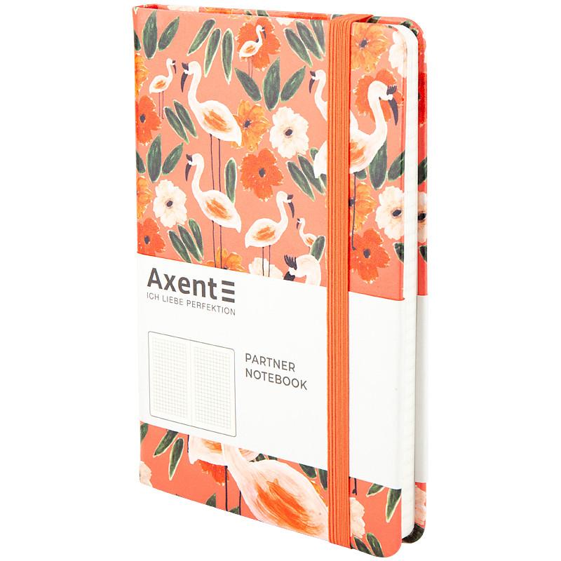 Книга записная в клетку Axent Partner BBH Flamingo А5 96 листов