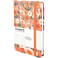 Книга записная в клетку Axent Partner BBH Flamingo А5 96 листов, фото 1