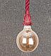 Люстра подвес лофт канат 915001-1 Red, фото 2