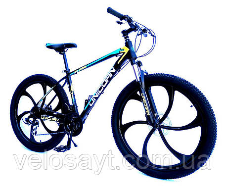 "Велосипед Unicorn - Flash 26"" размер рамы 18"" Black-blue, фото 2"