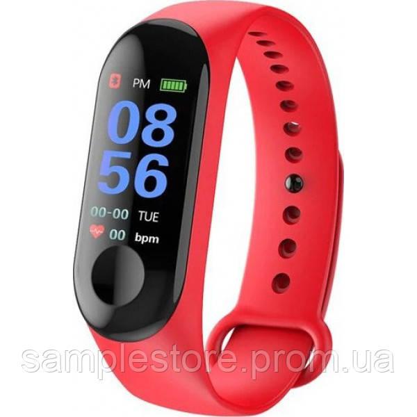 Фитнес трекер браслет Smart Band M3, Красный