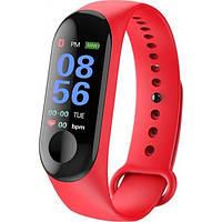 Фитнес трекер браслет Smart Band M3, Красный, фото 1