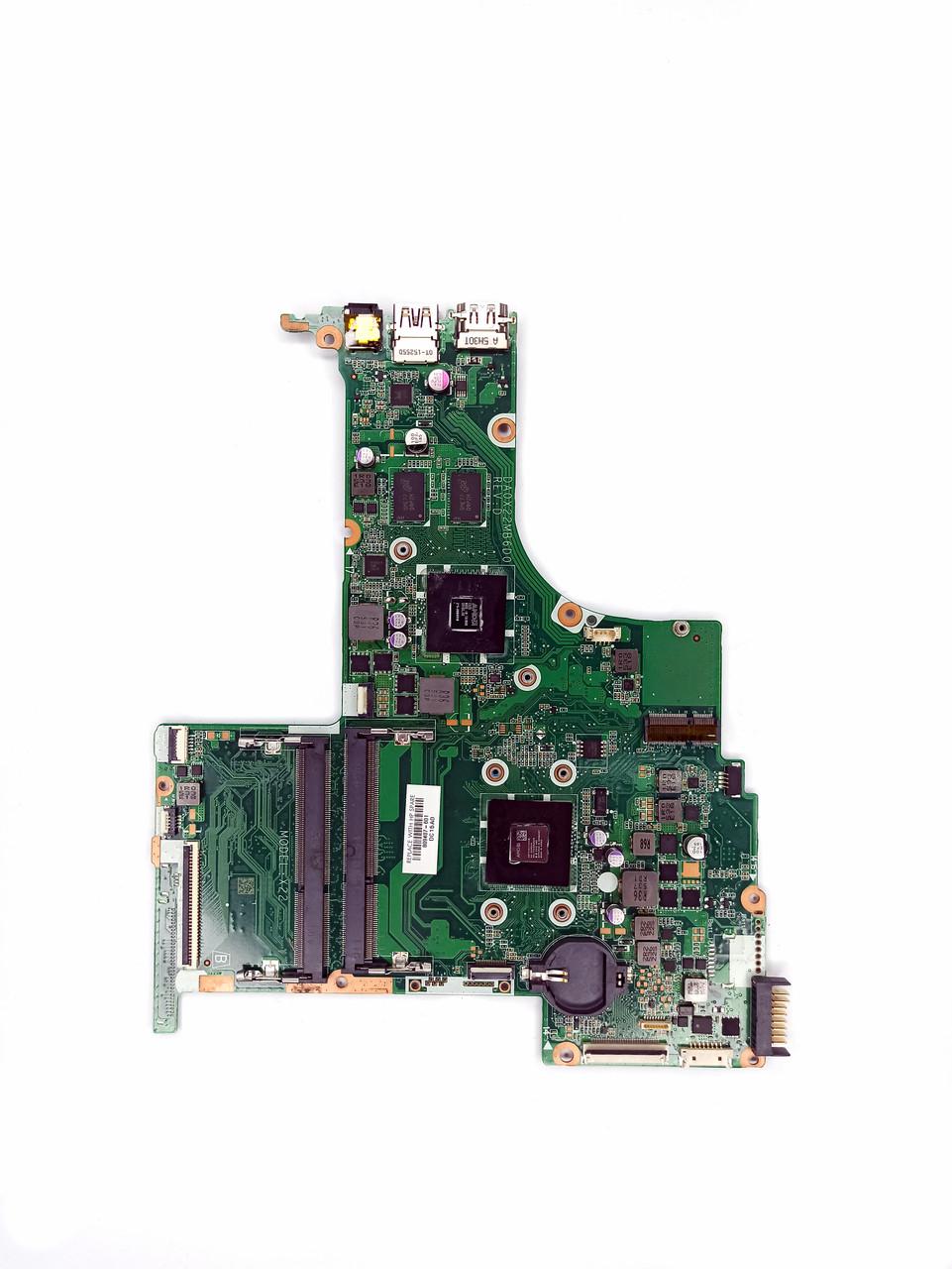 Материнская плата не рабочая на запчасти (DA0X22MB6D0) для ноутбука HP 15-ab125ur