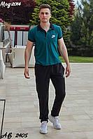 Мужской спортивный костюм коттон двухнить зелёный красный синий хаки серый 48 50 52 54