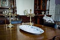 Блюдо фарфоровое белое PREMIER ROSE, England, 1862-1904 г