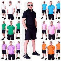 Мужской летний костюм (поло+шорты)  черные шорты №71 в расцветках