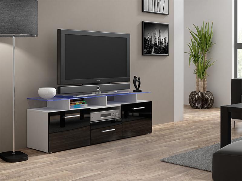 ТВ тумба EVORA MINI 147 белый/черный (CAMA)