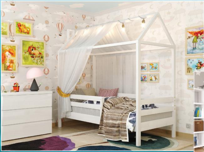Детская, деревянная кровать-домик - Джерри