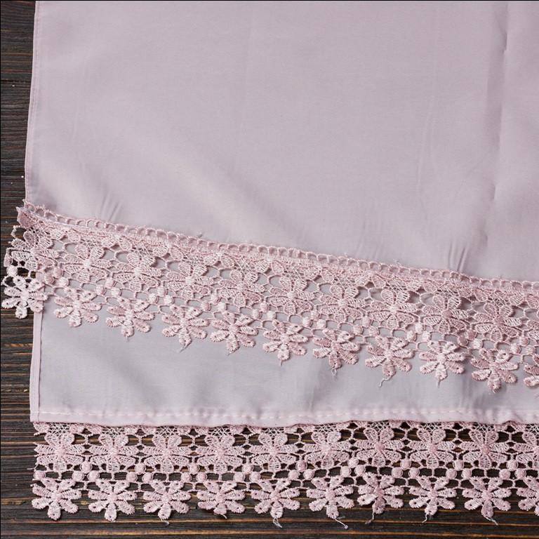 Венчальный шаль пудровый 135х45 см, арт. PV-1002