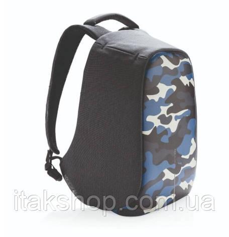 "Рюкзак для ноутбука протикрадій XD Design Bobby Compact 14"" (P705.655) Камуфляж Синій, фото 2"