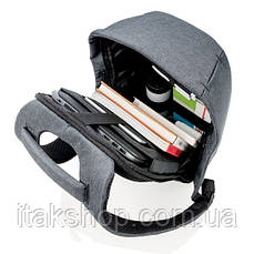 "Рюкзак для ноутбука протикрадій XD Design Bobby Compact 14"" (P705.655) Камуфляж Синій, фото 3"