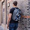 "Рюкзак для ноутбука протикрадій XD Design Bobby Compact 14"" (P705.655) Камуфляж Синій, фото 6"