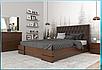 Деревянная кровать из массива дерева- Камелия , с мягким изголовьем. 1,6*2, фото 2