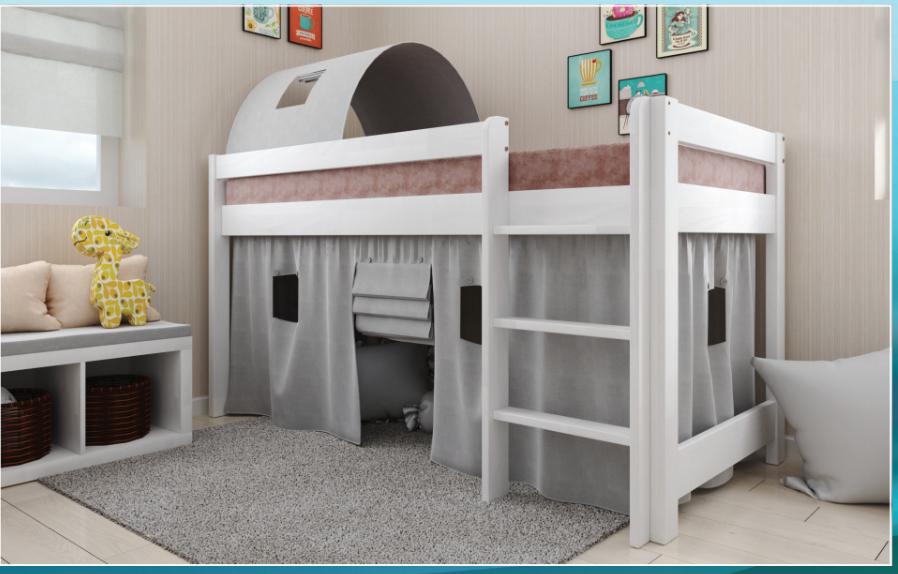 Детская, деревянная кровать- чердак - Адель