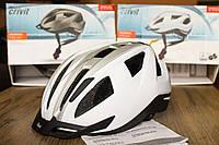 Шлем велосипедный CRIVIT серый со светодиодной подсветкой