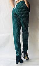 Женские летние штаны N°17 ЗЕЛЁНЫЙ БАТАЛ в горошек, фото 3