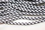 Шнур круглый 5мм с наполнителем 100м темно серый + белый, фото 2