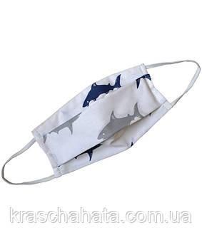 Многоразовая защитная маска, Акула, 100% хлопок, аксессуар для лица, Днепр
