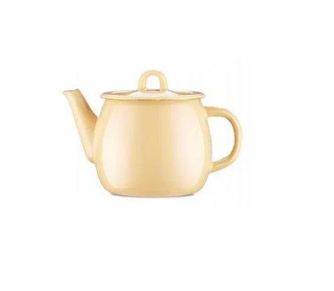 """Эмалированный чайник 1 литр без свистка Молочный (I27071/4) """"IDILIA"""""""
