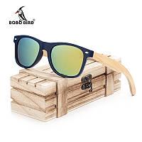 Солнцезащитные очки BOBO BIRD унисекс, в деревянной коробке, фото 1