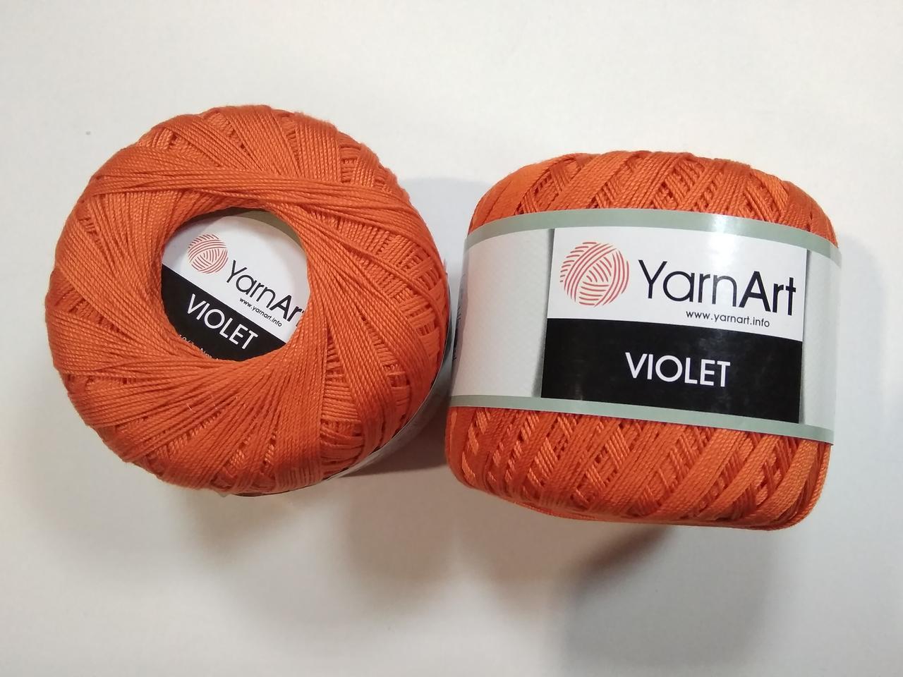 Пряжа Виолета (Violet) YarnArt, цвет оранжевый 5535